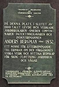 Text på Bergmans monumentet i Hennan