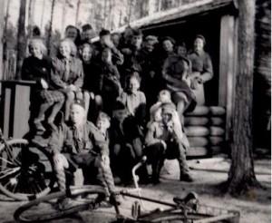 Väljescouter i Lövaviken